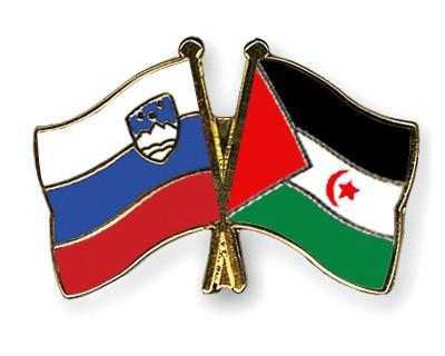 Crossed Flag Pins Slovenia-Western-Sahara