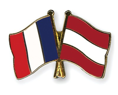 Special Offer Crossed Flag Pins France-Austria