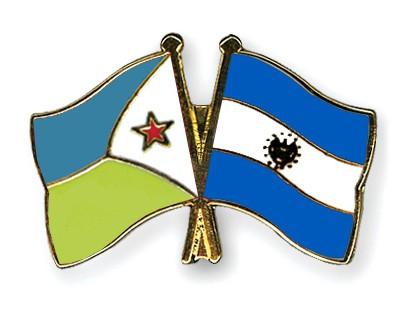 Crossed Flag Pins Djibouti-El-Salvador