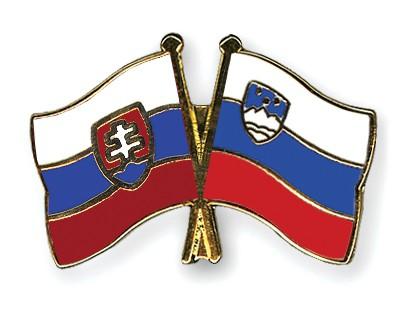 Crossed Flag Pins Slovakia-Slovenia