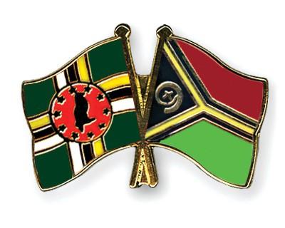 Crossed Flag Pins Dominica-Vanuatu