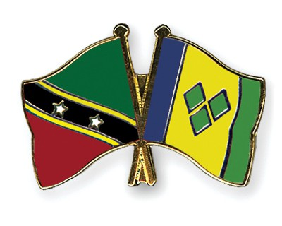 Crossed Flag Pins Saint-Kitts-and-Nevis-Saint-Vincent-and-the-Grenadines