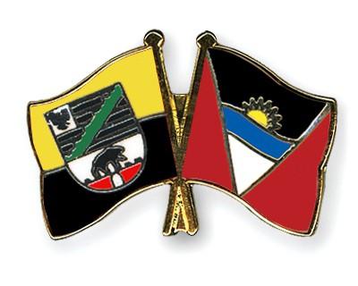 Crossed Flag Pins Saxony-Anhalt-Antigua-and-Barbuda