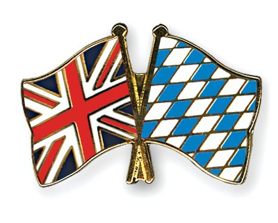 Special Offer Crossed Flag Pins Great-Britain-Bavaria
