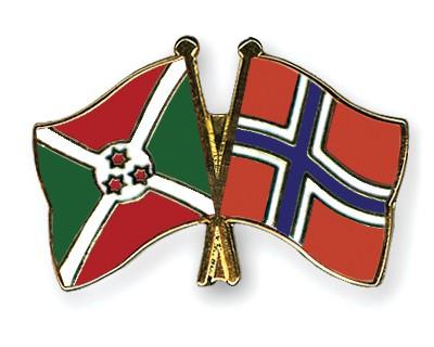 Crossed Flag Pins Burundi-Norway