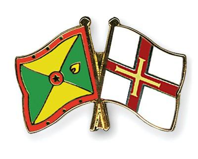 Crossed Flag Pins Grenada-Guernsey