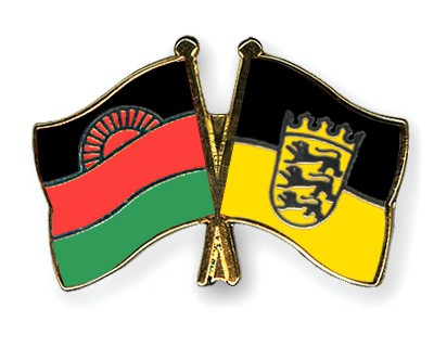 Crossed Flag Pins Malawi-Baden-Wuerttemberg