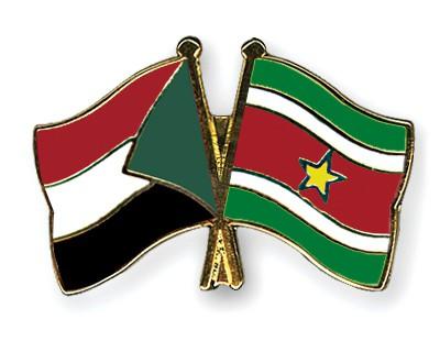 Crossed Flag Pins Sudan-Suriname