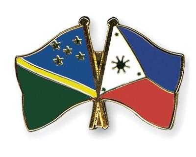 Crossed Flag Pins Solomon-Islands-Philippines
