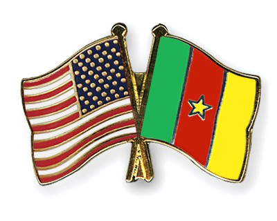 Crossed Flag Pins USA-Cameroon