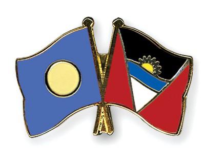 Crossed Flag Pins Palau-Antigua-and-Barbuda