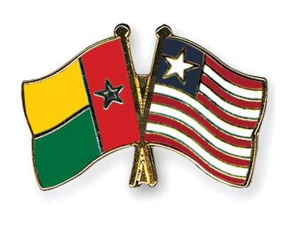 Crossed Flag Pins Guinea-Bissau-Liberia