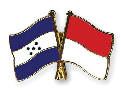 Crossed Flag Pins Honduras-Indonesia