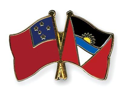 Crossed Flag Pins Samoa-Antigua-and-Barbuda