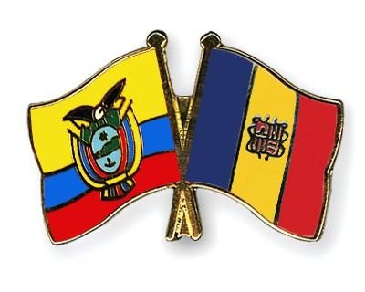 Crossed Flag Pins Ecuador-Andorra