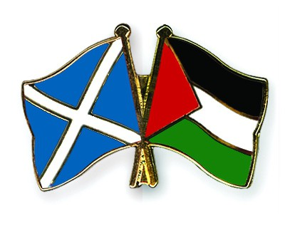 Special Offer Crossed Flag Pins Scotland-Palestine