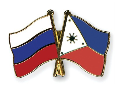 Crossed Flag Pins Russia-Philippines