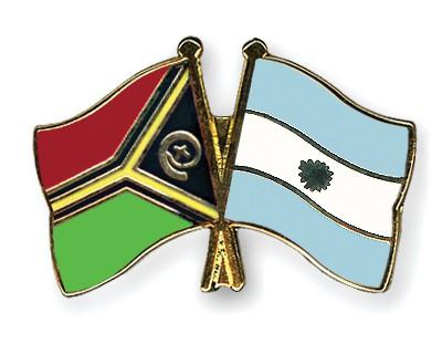 Crossed Flag Pins Vanuatu-Argentina