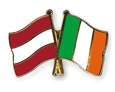 Crossed Flag Pins Austria-Ireland