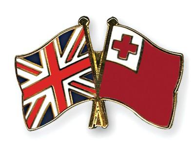 Crossed Flag Pins Great-Britain-Tonga