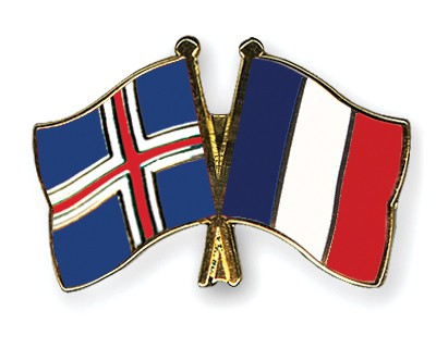 Special Offer Crossed Flag Pins Iceland-France