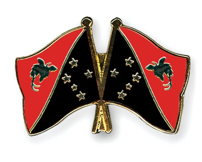 Crossed Flag Pins Papua-New-Guinea-Papua-New-Guinea
