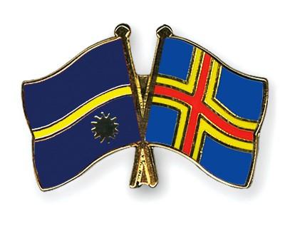 Crossed Flag Pins Nauru-Aland