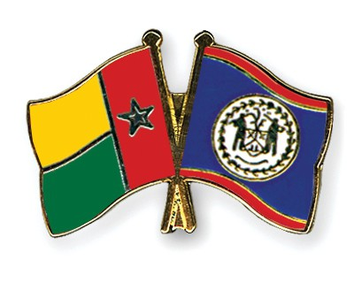 Crossed Flag Pins Guinea-Bissau-Belize