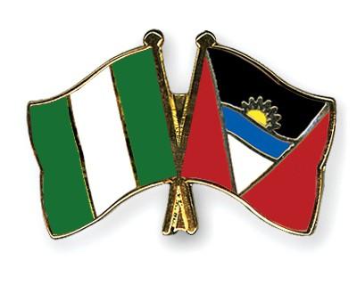 Crossed Flag Pins Nigeria-Antigua-and-Barbuda
