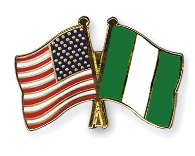 Crossed Flag Pins USA-Nigeria