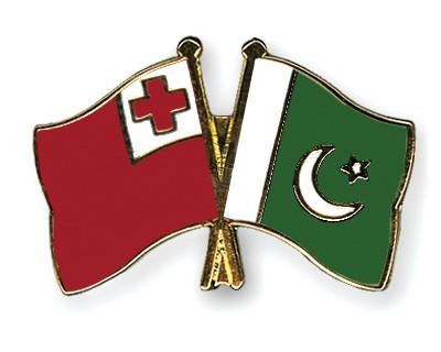 Crossed Flag Pins Tonga-Pakistan