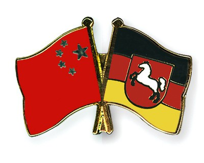 Special Offer Crossed Flag Pins China-Lower-Saxony