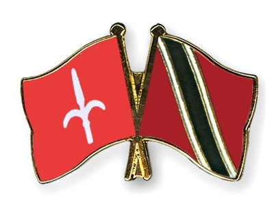 Crossed Flag Pins Trieste-Trinidad-and-Tobago