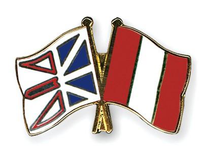 Crossed Flag Pins Newfoundland-and-Labrador-Peru