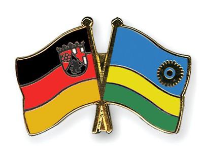 Crossed Flag Pins Rhineland-Palatinate-Rwanda