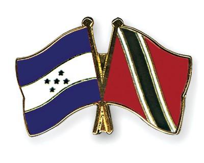Crossed Flag Pins Honduras-Trinidad-and-Tobago