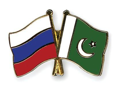 Crossed Flag Pins Russia-Pakistan