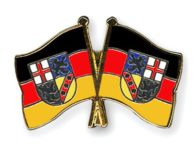Crossed Flag Pins Saarland-Saarland