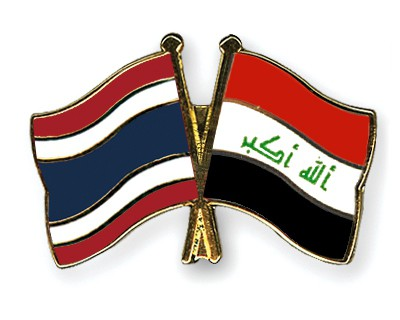 Crossed Flag Pins Thailand-Iraq