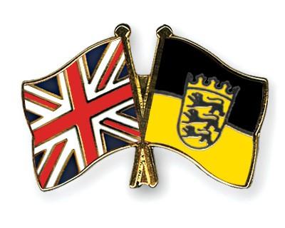 Crossed Flag Pins Great-Britain-Baden-Wuerttemberg