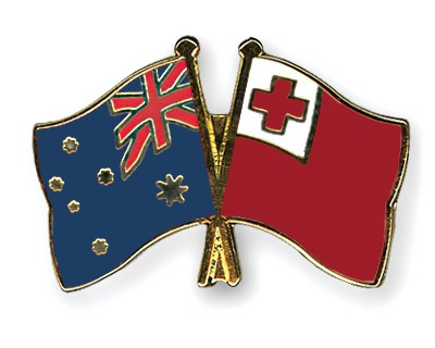 Special Offer Crossed Flag Pins Australia-Tonga
