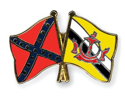 Crossed Flag Pins Confederate-battle-Brunei-Darussalam