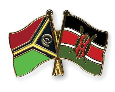 Crossed Flag Pins Vanuatu-Kenya