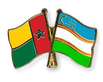 Crossed Flag Pins Guinea-Bissau-Uzbekistan