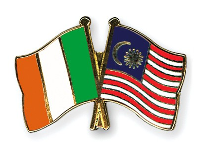 Special Offer Crossed Flag Pins Ireland-Malaysia