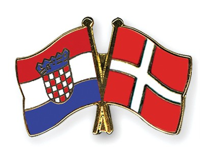 Crossed Flag Pins Croatia-Denmark
