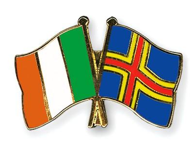 Crossed Flag Pins Ireland-Aland