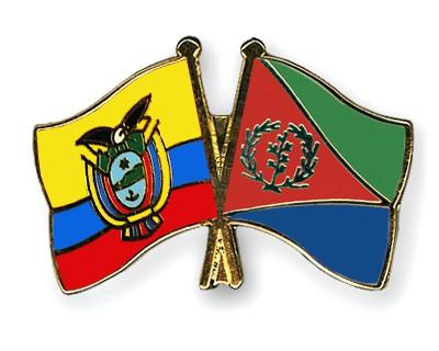 Crossed Flag Pins Ecuador-Eritrea