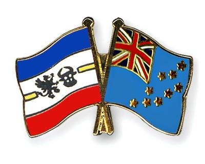 Crossed Flag Pins Mecklenburg-Western-Pomerania-Tuvalu