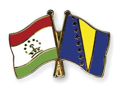 Crossed Flag Pins Tajikistan-Bosnia-and-Herzegovina